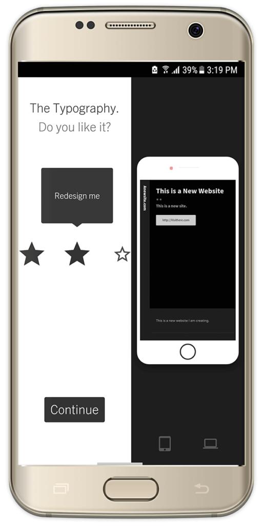 Sample AI Grid Web Design on Android
