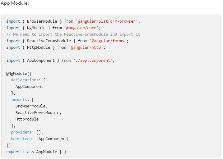 Sample Angular 2 App Module